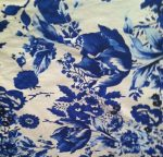 Blue with White and Blue Floral