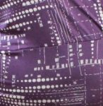 Purple White Dot Print