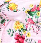 Pink and White Striped Floral