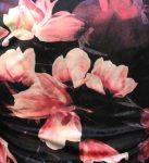 Black Mauve Floral Velvet