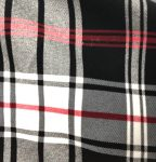 Black White Red Plaid