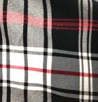 Black White Red Plaid