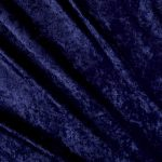 Navy Crushed Velvet