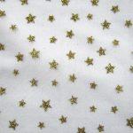 Gold White Mesh Stars