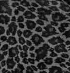 Gray Leopard Faux Seude