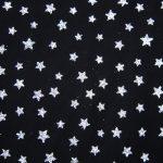 Silver Black Mesh Stars