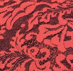 Red Textured Lace