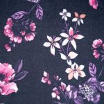 Black Purple Floral