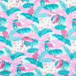 Flamingo Cotton Sateen