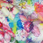 Watercolor Floral Swim